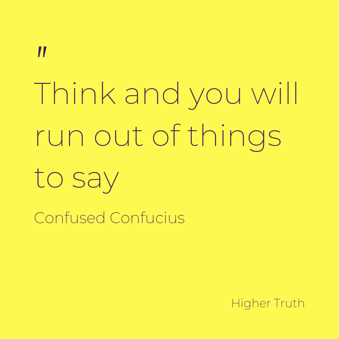 Thinking takes time and effort and should be avoided