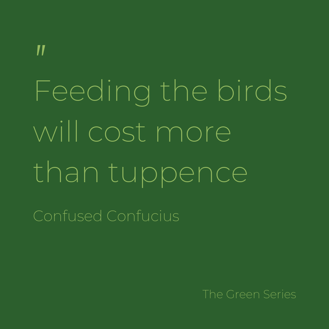 Tuppence to feed the bird, in your dreams