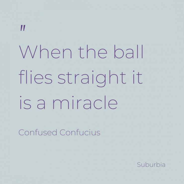 Golf balls always spin