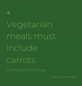 What has to be in a vegetarian meal