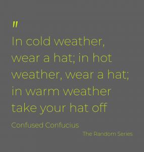 Hat wearing options